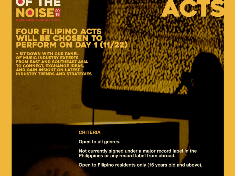 All of the Noise 2019 invites Filipino musicians to be part of the AOTN Feature Acts